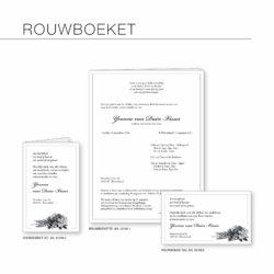Rouwserie, Rouwboeket, rouwcirculaire, dankbetuiging, drukkerij
