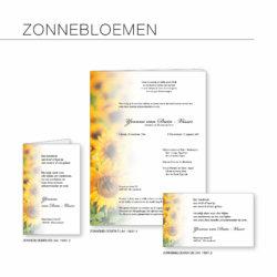 Rouwserie, zonnebloemen